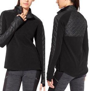 Athleta Vortex Quilted Half Zip Pullover Sweater